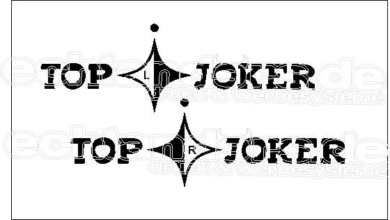 """T3 Aufkleber Dekorfoliensatz """" Top Joker Türsatz """""""