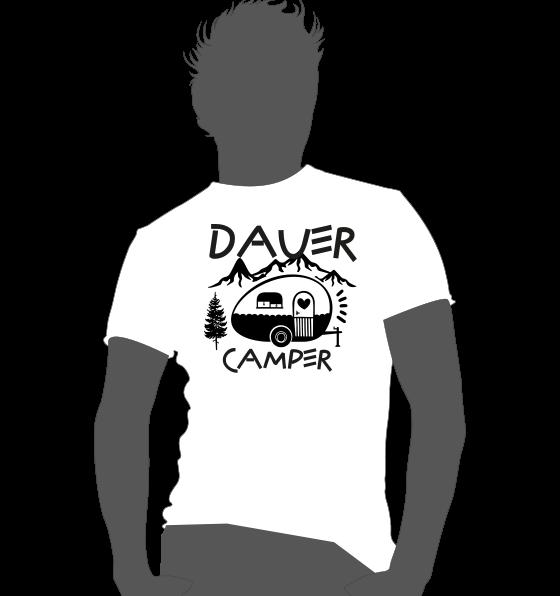 Textildruck Camper Shirt Dauer Camper