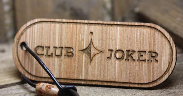 Schlüsselanhänger Holz *Westfalia Club Joker Holz*