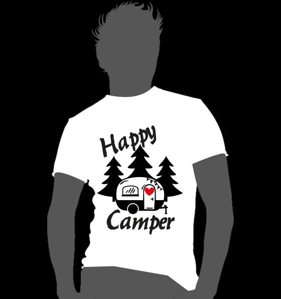 Textildruck Camper *happy Camper*