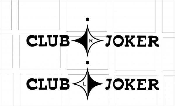 "T3 Aufkleber Dekorfoliensatz "" Club Joker Türsatz """