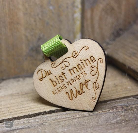 Schlüsselanhänger Buche * Du bist meine kleine Perfekte Welt *